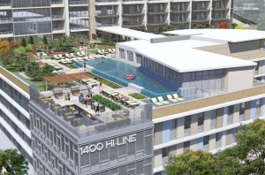Artist Rendering of Amenities Deck
