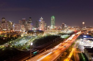 Downtown Dallas Skyline View