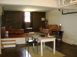 Concrete Floors Elevated Living Room