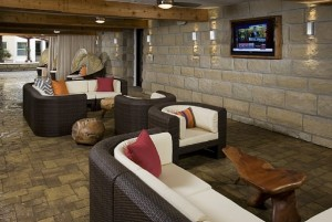 Covered Outdoor Cove with Flatscreens