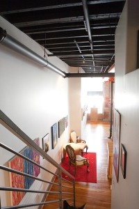 Stairway to Lofted Area