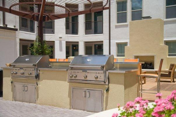 Outdoor Firepit and Grilling Area