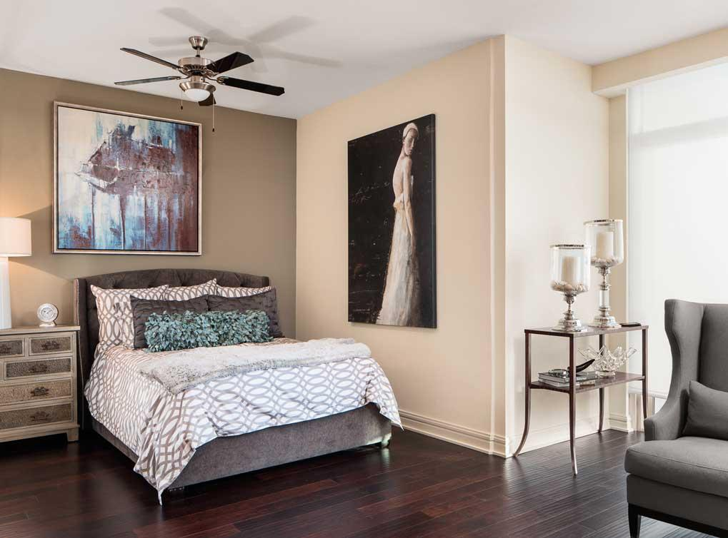 Hardwoods in bedroom